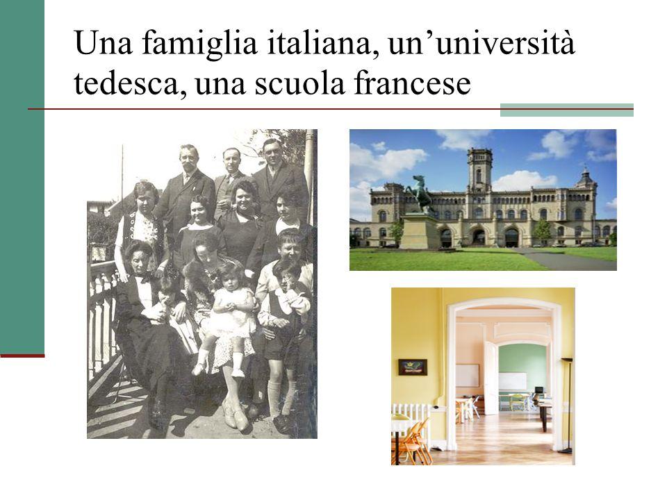 Una famiglia italiana, un'università tedesca, una scuola francese