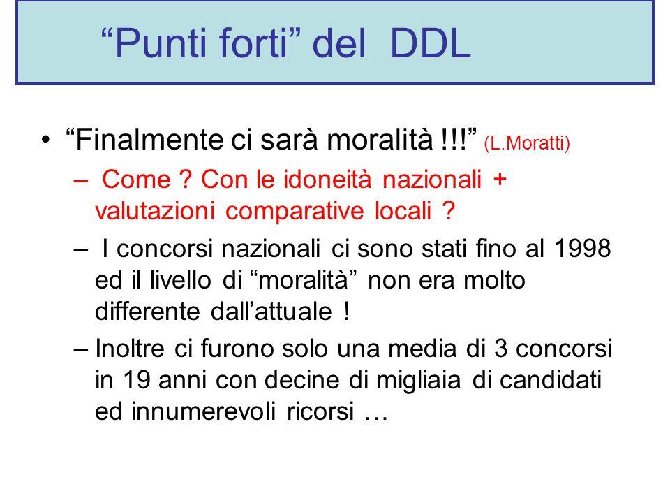 Punti forti del DDL Finalmente ci sarà moralità !!! (L.Moratti) – Come .