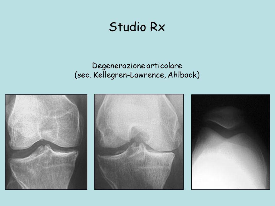 Degenerazione articolare (sec. Kellegren-Lawrence, Ahlback) Studio Rx