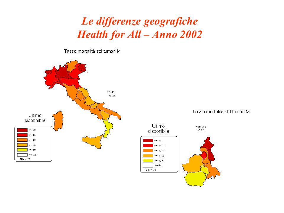 Obiettivo 10: Un ambiente fisico sano e sicuro Rete per la salute: Qualità raccolta differenziata (% raccolta differenziata) Rete per la salute: Spazi verdi disponibili nelle città (% area verde)
