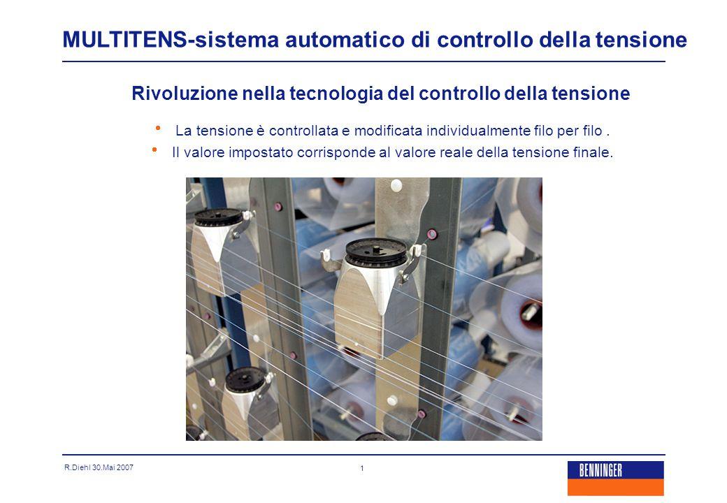R.Diehl 30.Mai 2007 1 MULTITENS-sistema automatico di controllo della tensione Rivoluzione nella tecnologia del controllo della tensione   La tensio