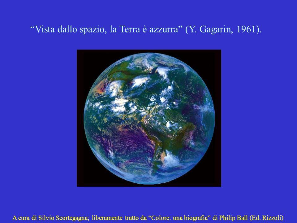 Vista dallo spazio, la Terra è azzurra (Y.Gagarin, 1961).