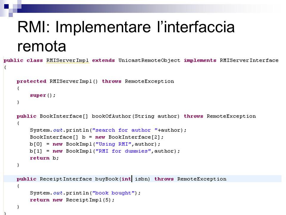 40 RMI: Implementare l'interfaccia remota