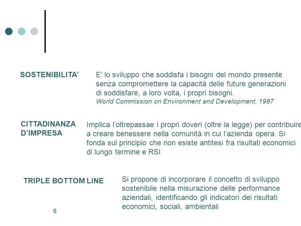 36 Il bilancio sociale Documento ancora in fase dinamica, in via di formazione ( cantiere aperto ).