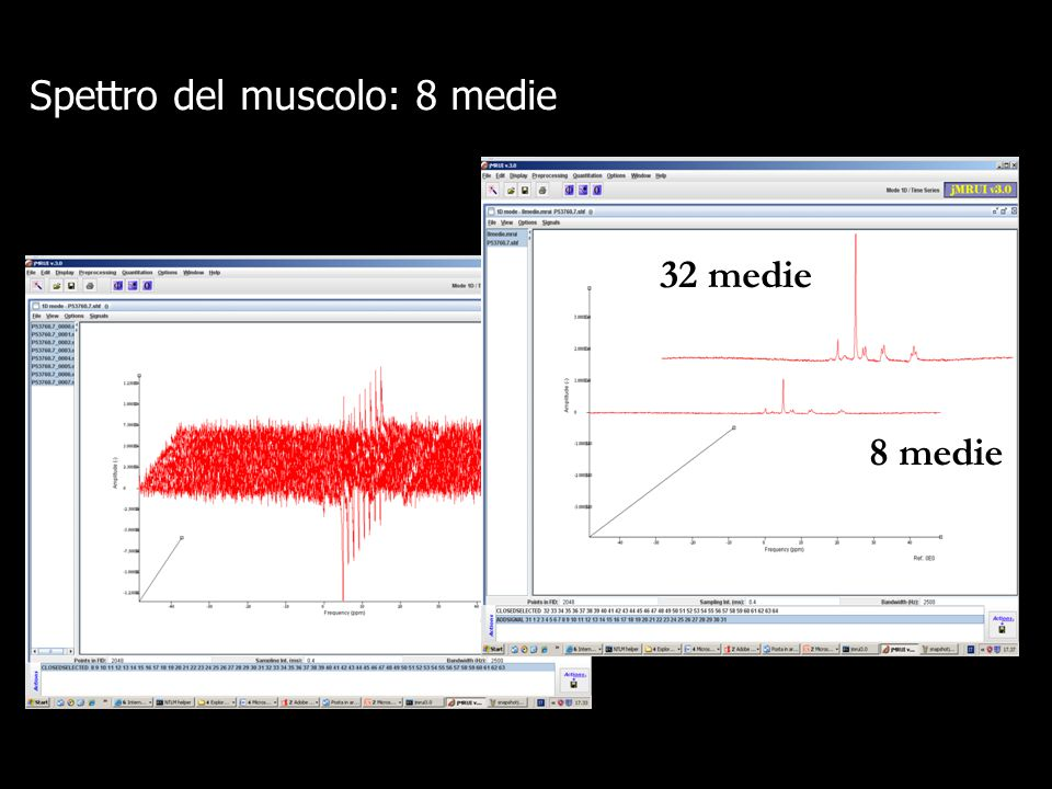 L'SNR migliora perché diminuisce il rumore ma diminuisce anche S (in misura inferiore) Apodizzazione Manipolazioni dei dati nel dominio del tempo, senza alterare le frequenze, per migliorare SNR..