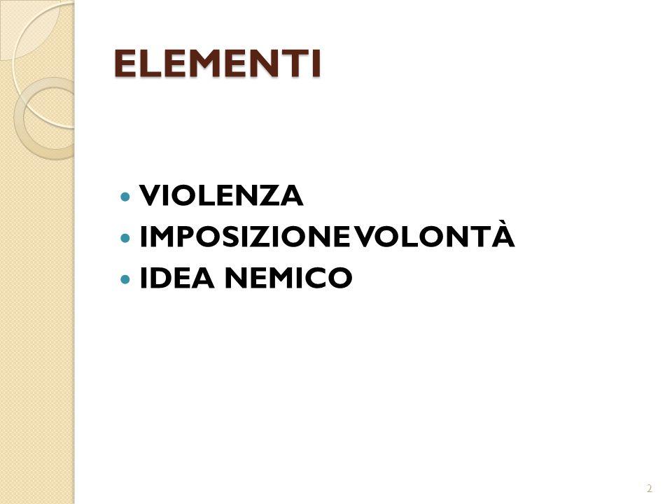 ELEMENTI VIOLENZA IMPOSIZIONE VOLONTÀ IDEA NEMICO 2