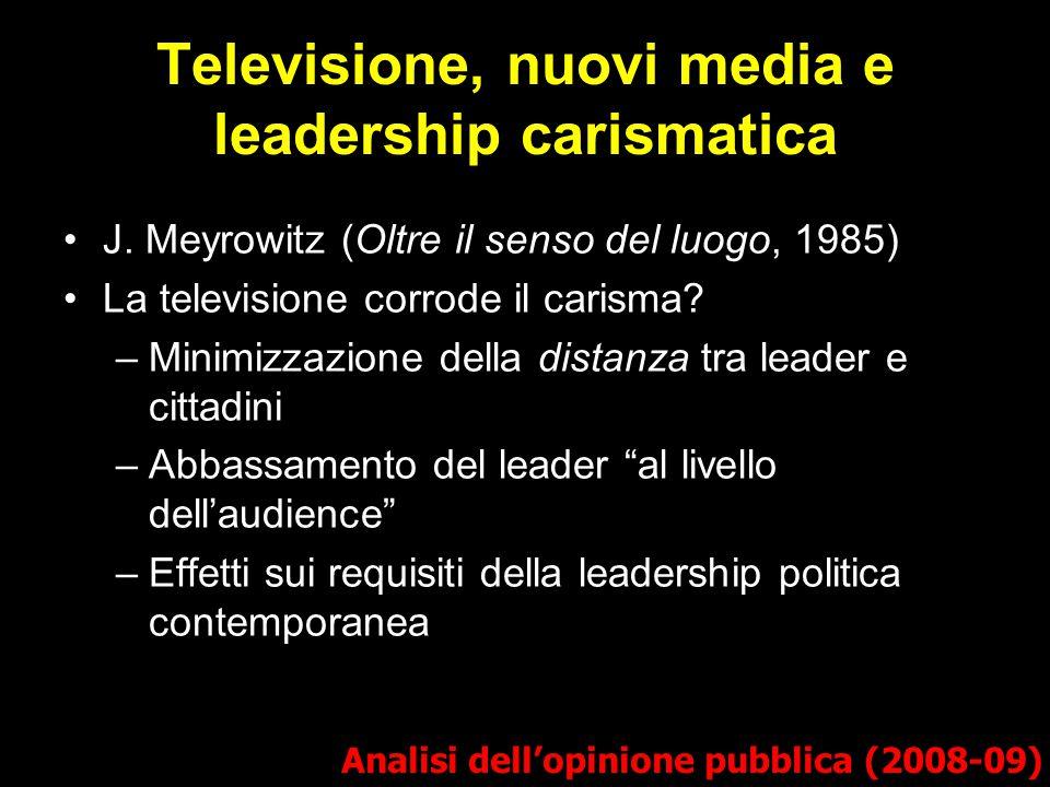Televisione, nuovi media e leadership carismatica J.