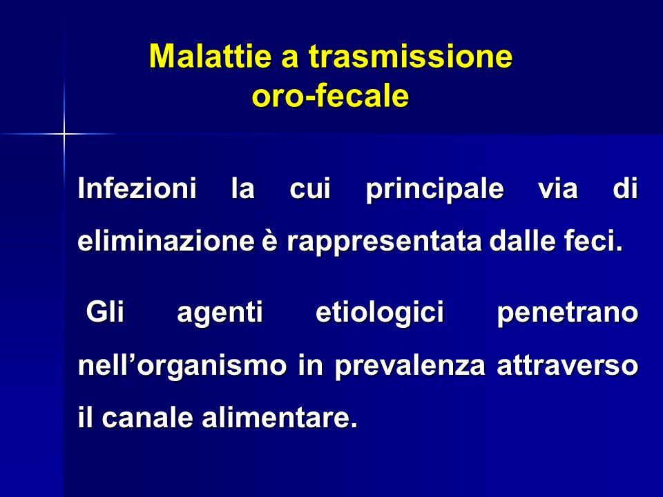 Infezioni la cui principale via di eliminazione è rappresentata dalle feci.