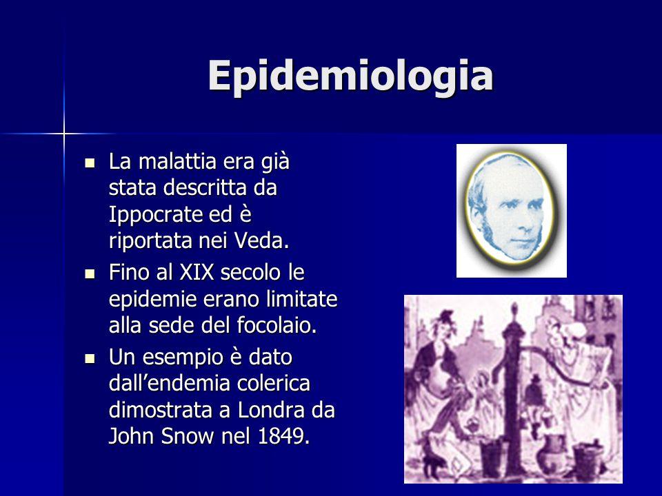Epidemiologia La malattia era già stata descritta da Ippocrate ed è riportata nei Veda.