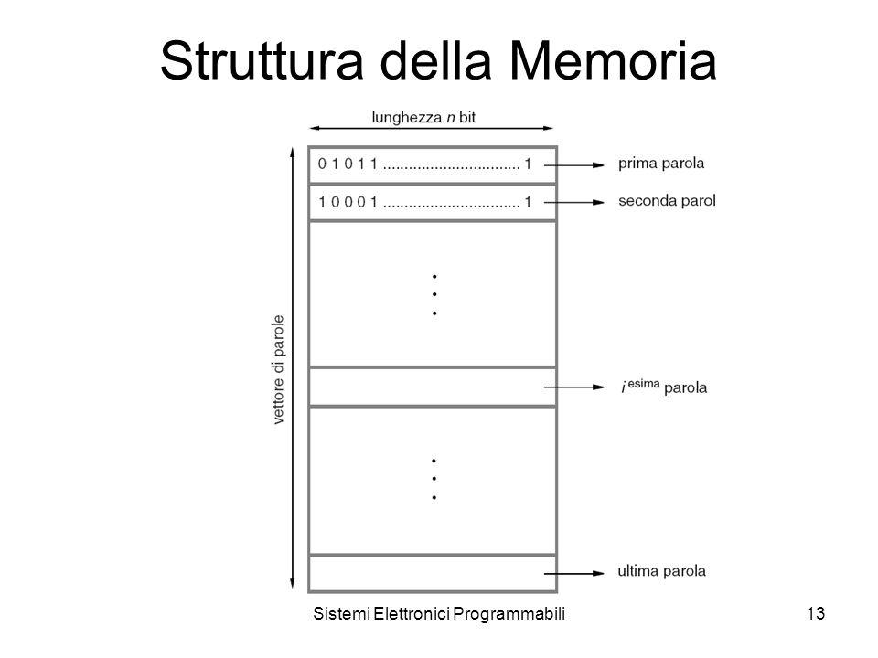Sistemi Elettronici Programmabili13 Struttura della Memoria