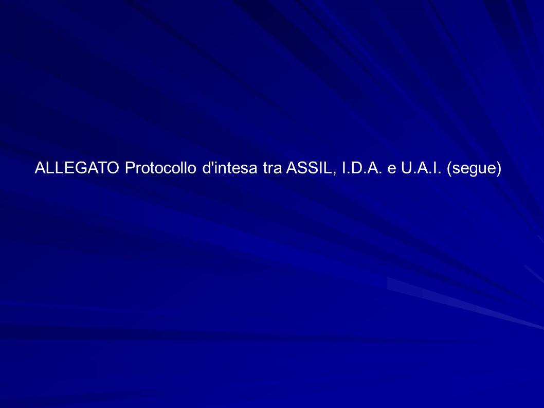 ALLEGATO Protocollo d intesa tra ASSIL, I.D.A. e U.A.I. (segue)