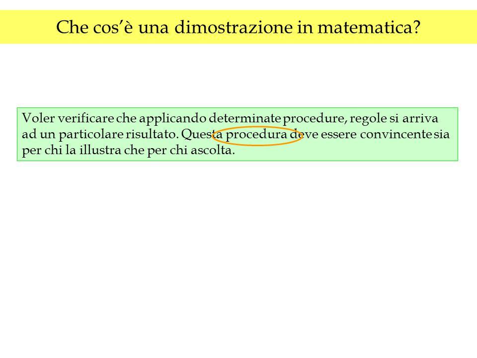 A che cosa serve la dimostrazione in matematica.