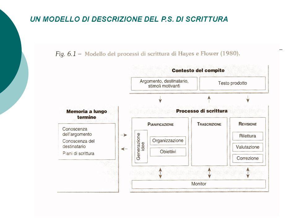 UN MODELLO DI DESCRIZIONE DEL P.S. DI SCRITTURA