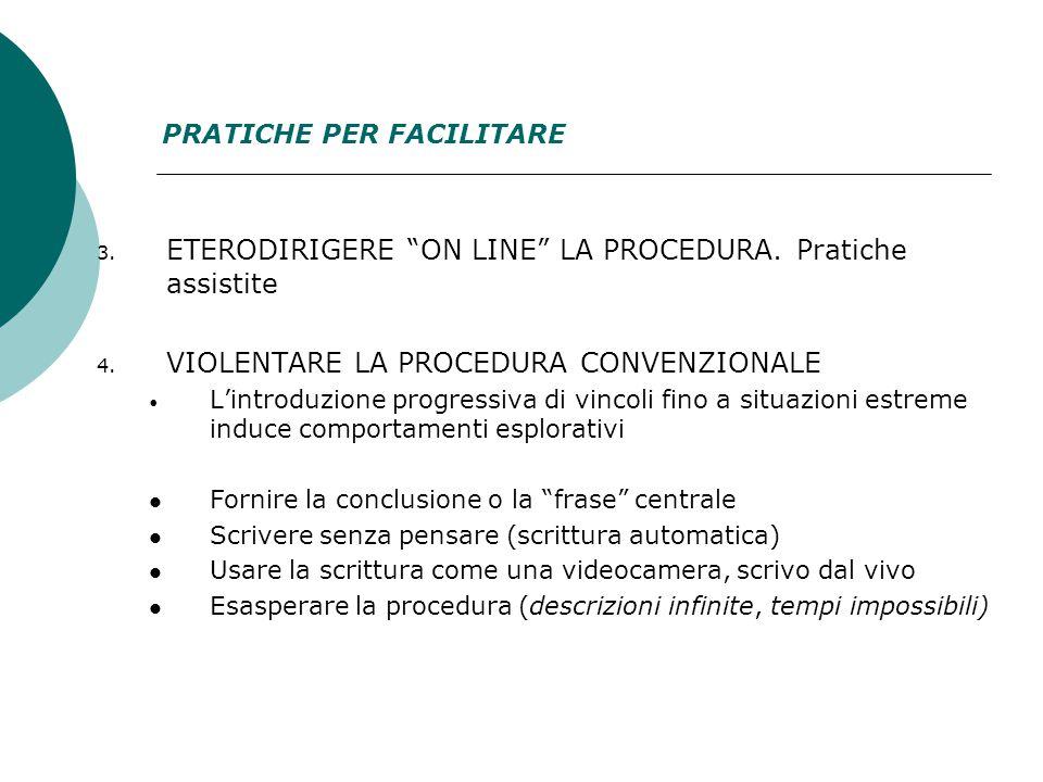 3. ETERODIRIGERE ON LINE LA PROCEDURA. Pratiche assistite 4.