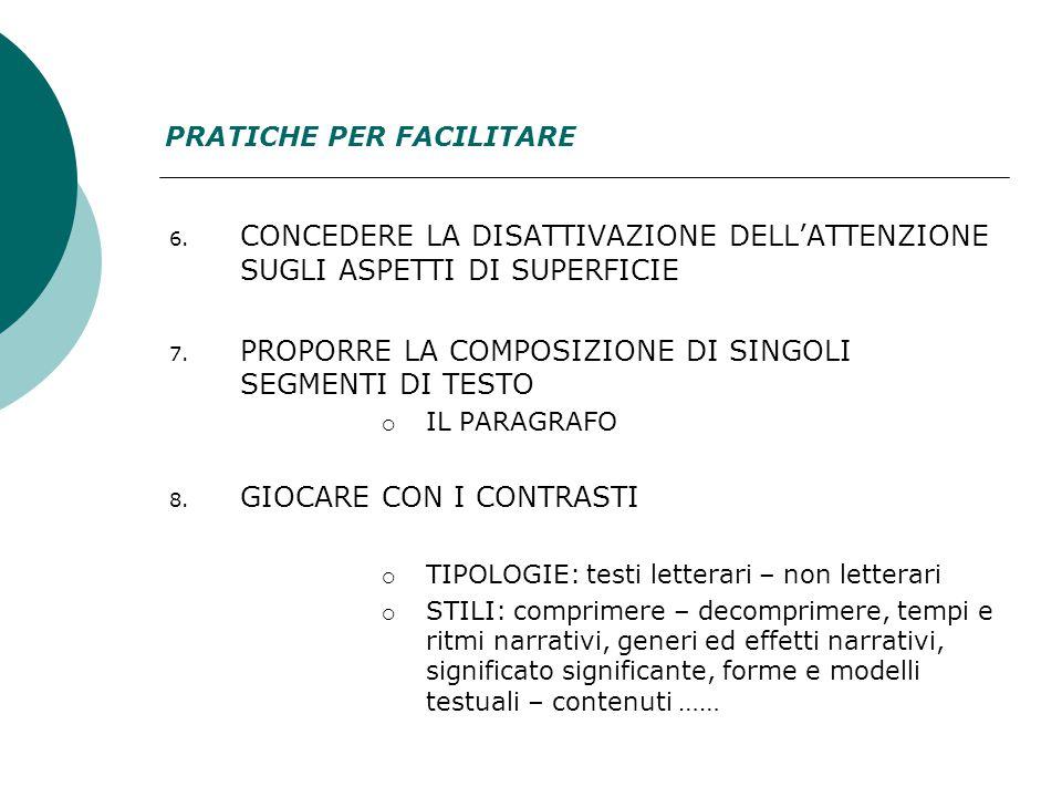 6. CONCEDERE LA DISATTIVAZIONE DELL'ATTENZIONE SUGLI ASPETTI DI SUPERFICIE 7.