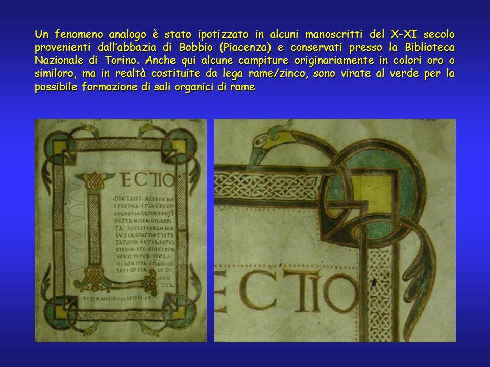 Un fenomeno analogo è stato ipotizzato in alcuni manoscritti del X-XI secolo provenienti dall'abbazia di Bobbio (Piacenza) e conservati presso la Biblioteca Nazionale di Torino.