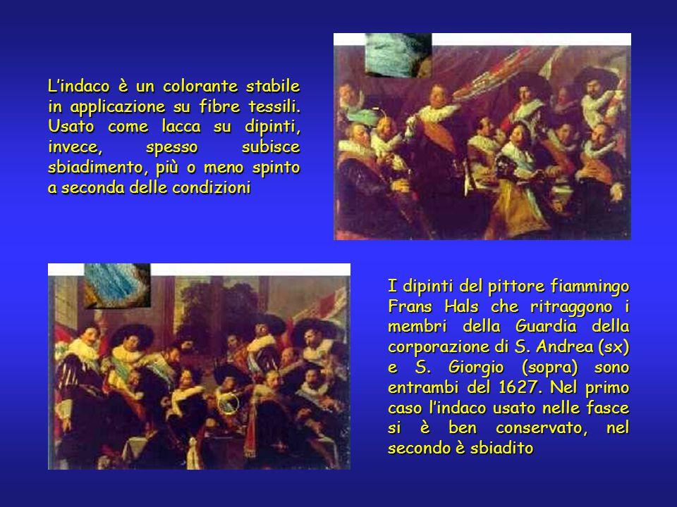 I dipinti del pittore fiammingo Frans Hals che ritraggono i membri della Guardia della corporazione di S. Andrea (sx) e S. Giorgio (sopra) sono entram