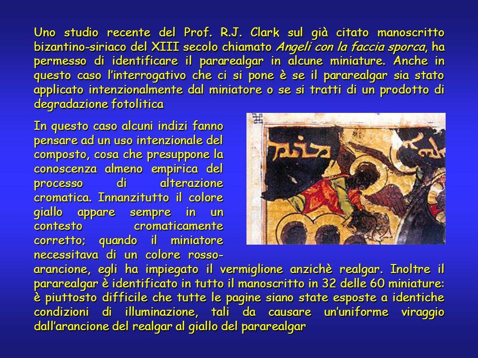 Uno studio recente del Prof. R.J. Clark sul già citato manoscritto bizantino-siriaco del XIII secolo chiamato Angeli con la faccia sporca, ha permesso