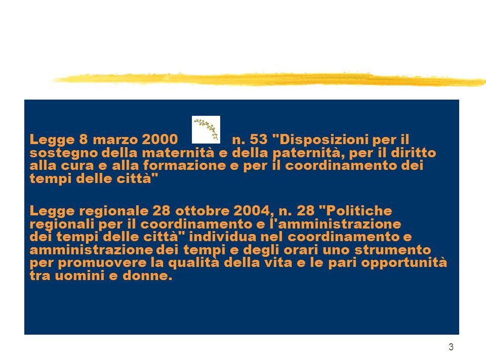 3 Legge 8 marzo 2000 n. 53