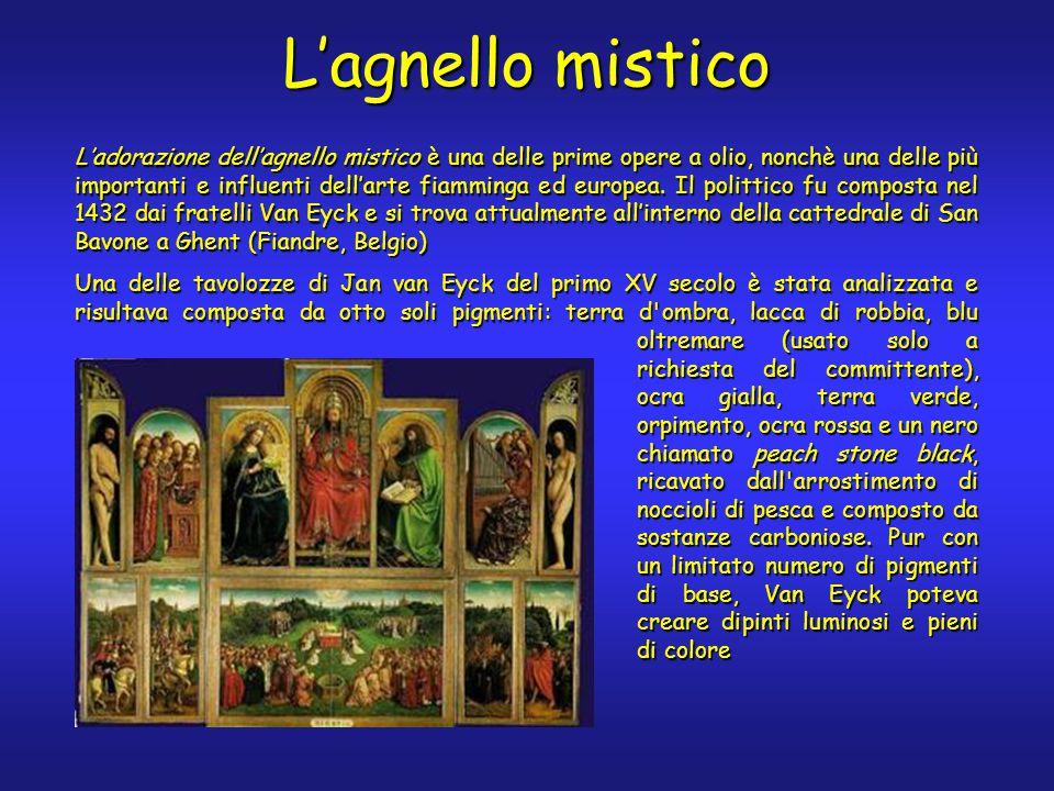 L'agnello mistico L'adorazione dell'agnello mistico è una delle prime opere a olio, nonchè una delle più importanti e influenti dell'arte fiamminga ed europea.