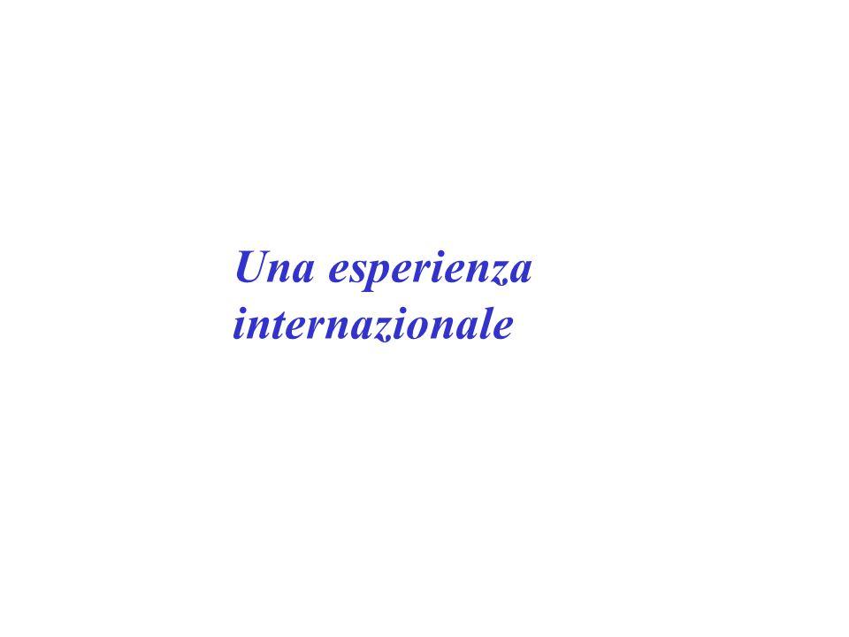 Una esperienza internazionale