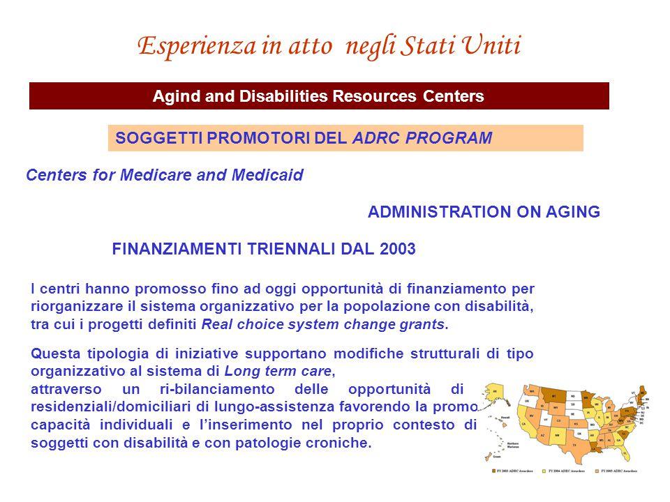 FINANZIAMENTI TRIENNALI DAL 2003 I centri hanno promosso fino ad oggi opportunità di finanziamento per riorganizzare il sistema organizzativo per la p