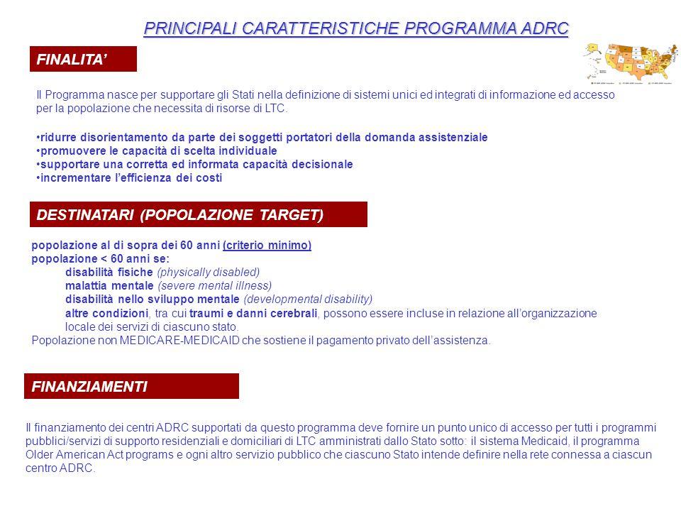 PRINCIPALI CARATTERISTICHE PROGRAMMA ADRC FINALITA' Il Programma nasce per supportare gli Stati nella definizione di sistemi unici ed integrati di inf