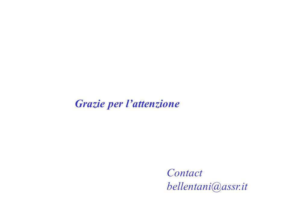 Contact bellentani@assr.it Grazie per l'attenzione