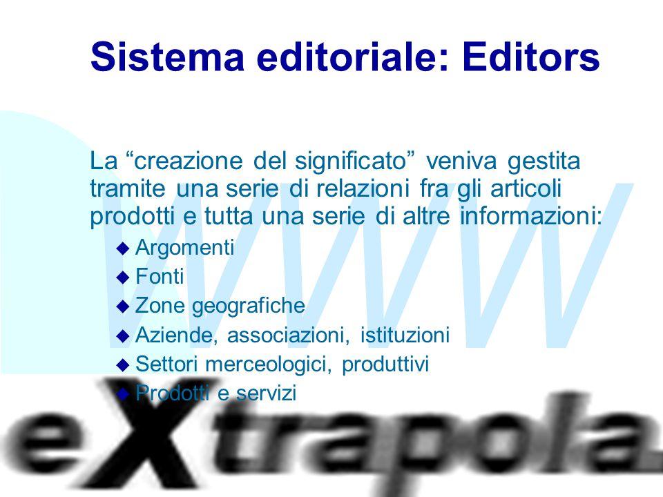 """WWW Fabio Vitali15 Sistema editoriale: Editors La """"creazione del significato"""" veniva gestita tramite una serie di relazioni fra gli articoli prodotti"""