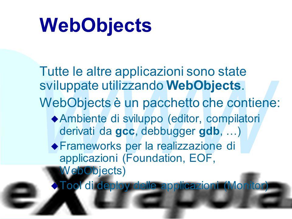 WWW Fabio Vitali29 WebObjects Tutte le altre applicazioni sono state sviluppate utilizzando WebObjects. WebObjects è un pacchetto che contiene: u Ambi