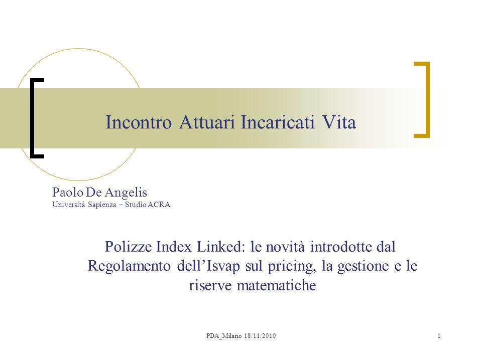 2 Argomenti  Inquadramento normativo: Regolamento ISVAP n.