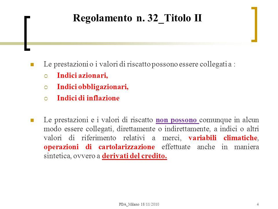 25 Il modello CRR Definizioni valore iniziale del sottostante fattore di variazione up fattore di variazione down PDA_Milano 18/11/2010