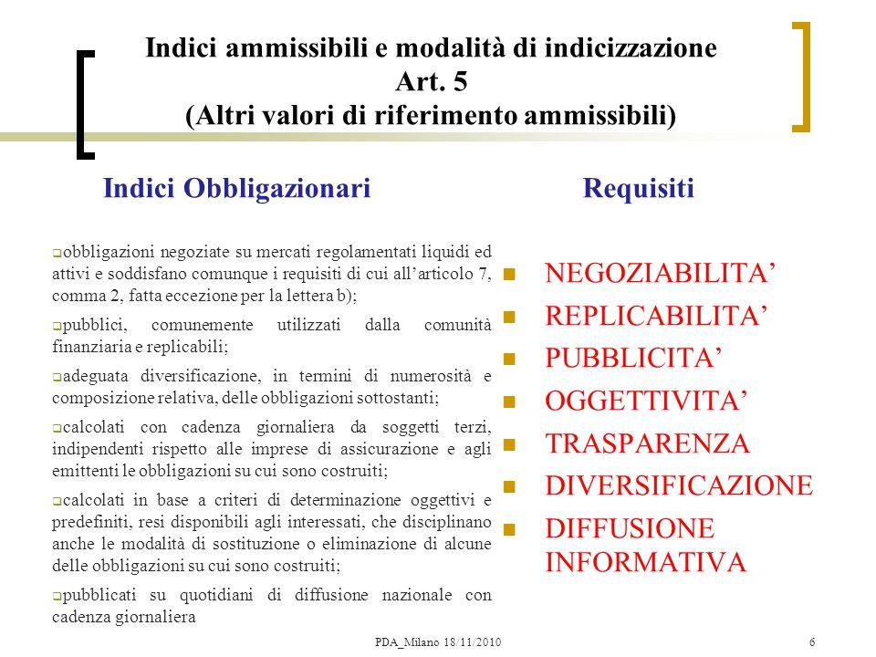17 Tecnologia per il Pricing di forme Index Linked PDA_Milano 18/11/2010