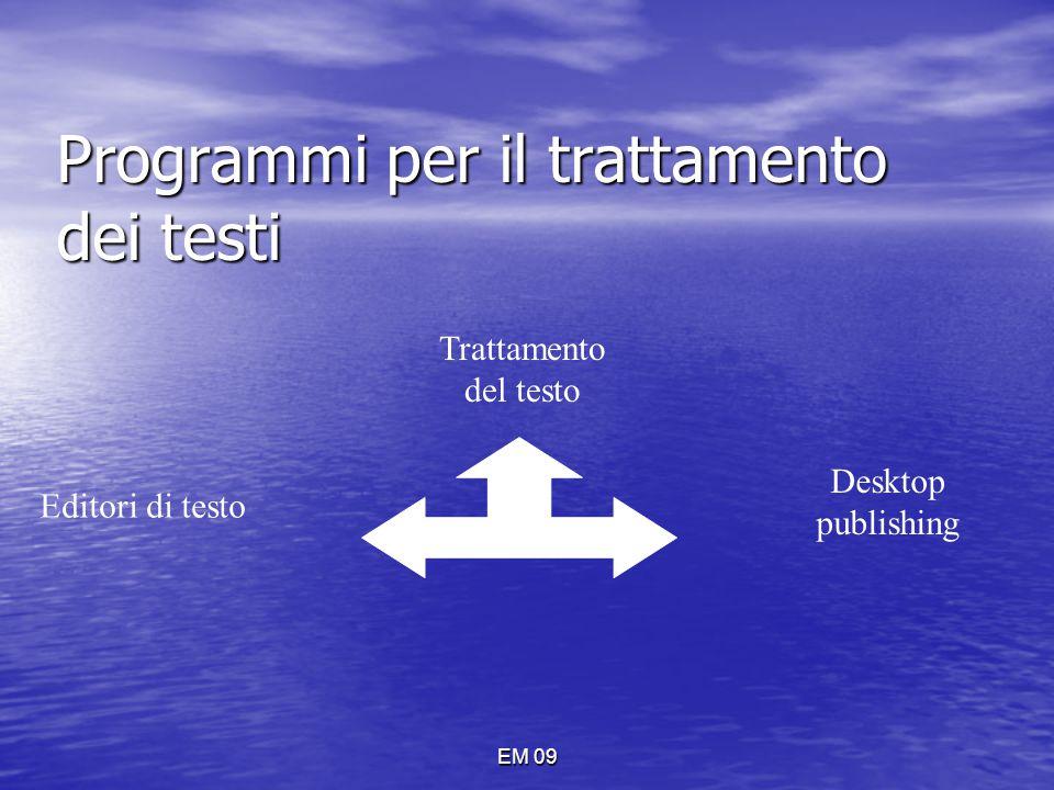 EM 09 NORMALE Mostra solo il testo del documento, senza indicare i margini della pagina