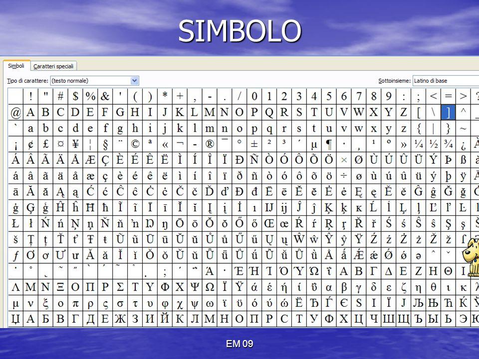 EM 09SIMBOLO