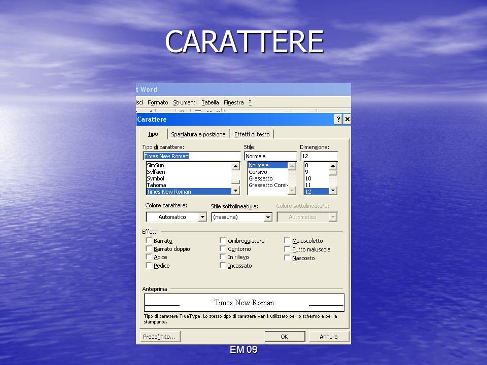 EM 09 CARATTERE