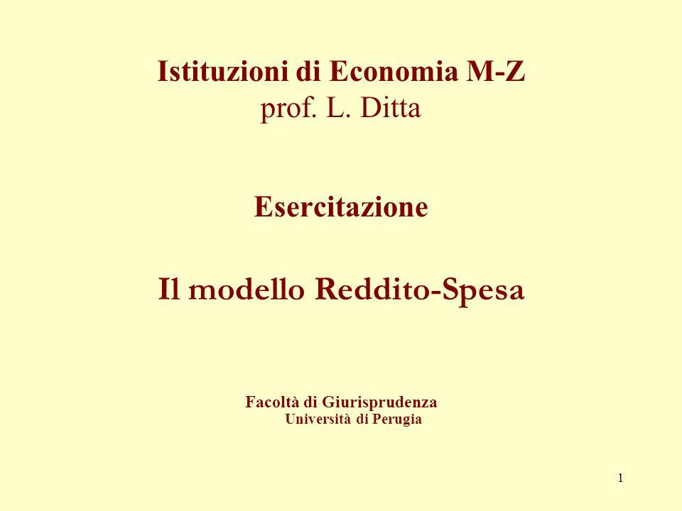 1 Istituzioni di Economia M-Z prof.L.