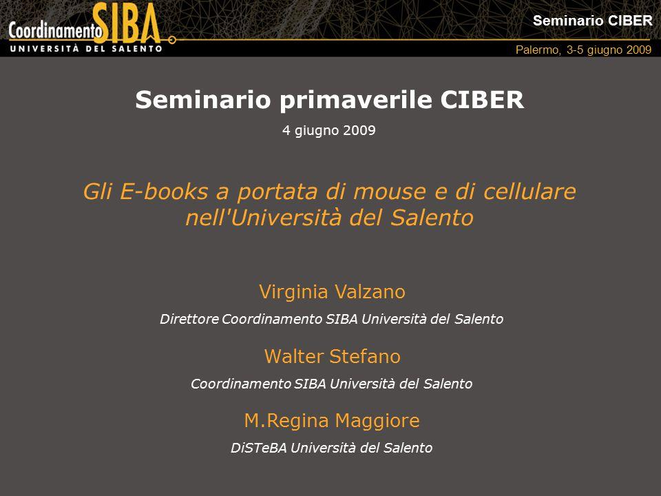 Seminario CIBER Palermo, 3-5 giugno 2009 I periodici elettronici hanno rappresentato la rivoluzione degli anni '90 e una grande opportunità di riorganizzazione per le biblioteche accademiche.