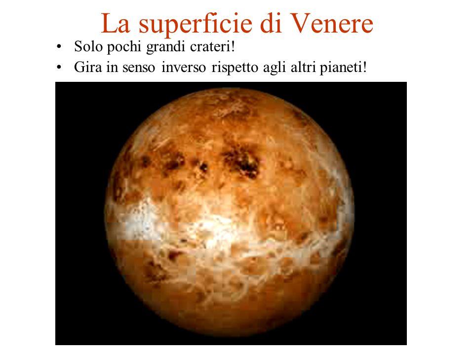 La superficie di Venere Solo pochi grandi crateri! Gira in senso inverso rispetto agli altri pianeti!