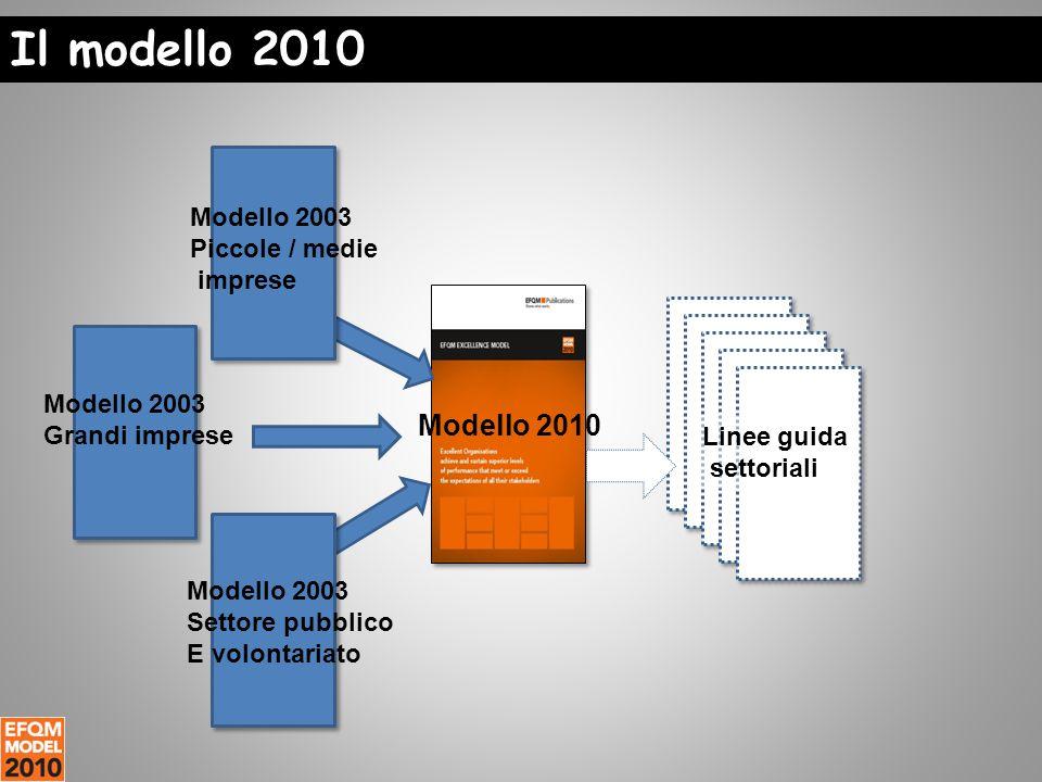 Modello 2003 Piccole / medie imprese Modello 2003 Grandi imprese Modello 2003 Settore pubblico E volontariato Modello 2010 Linee guida settoriali Il modello 2010