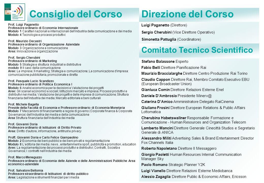 Prof. Luigi Paganetto Professore ordinario di Economia Internazionale Modulo 1 Caratteri nazionali e internazionali dell'industria della comunicazione