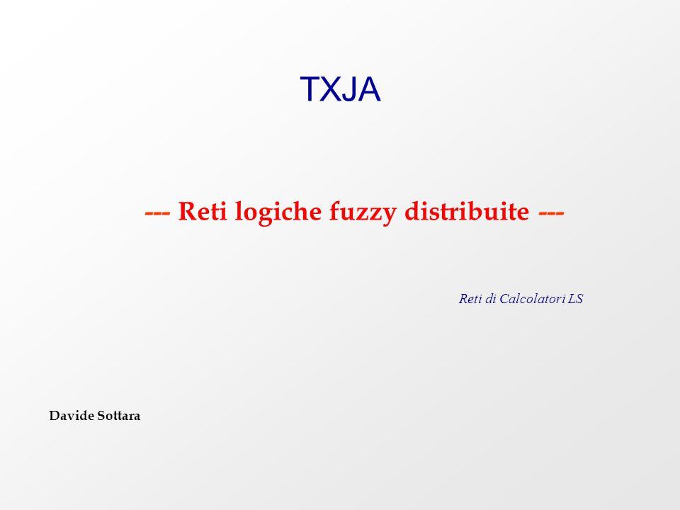 TXJA --- Reti logiche fuzzy distribuite --- Reti di Calcolatori LS Davide Sottara