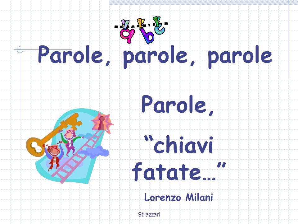 """Strazzari Parole, parole, parole Parole, """"chiavi fatate…"""" Lorenzo Milani"""