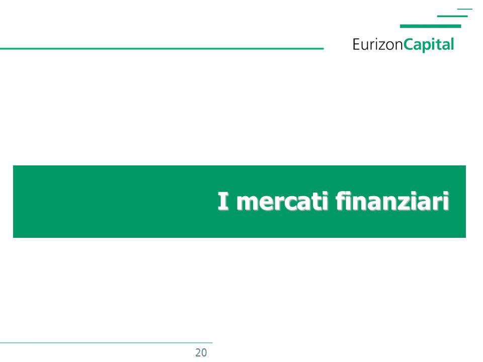20 I mercati finanziari