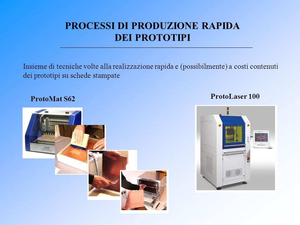 PROCESSI DI PRODUZIONE RAPIDA DEI PROTOTIPI Insieme di tecniche volte alla realizzazione rapida e (possibilmente) a costi contenuti dei prototipi su s