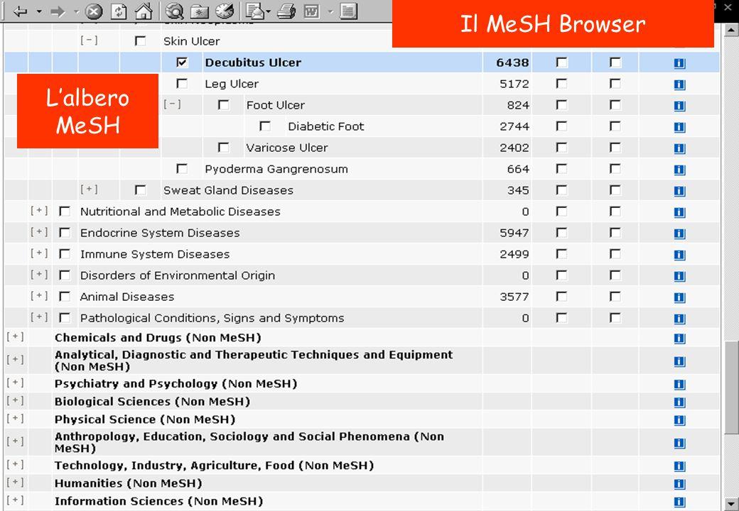 Il MeSH Browser L'albero MeSH