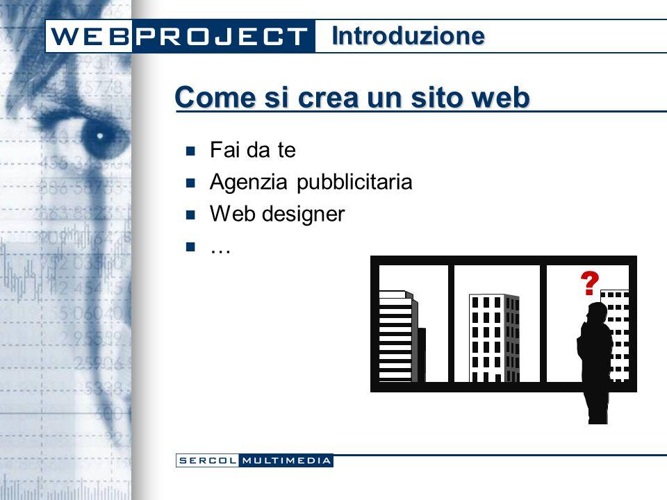 Come si crea un sito web Fai da te Agenzia pubblicitaria Web designer … Introduzione