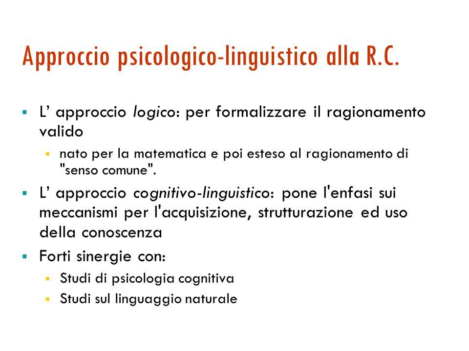 Approccio psicologico-linguistico alla R.C.