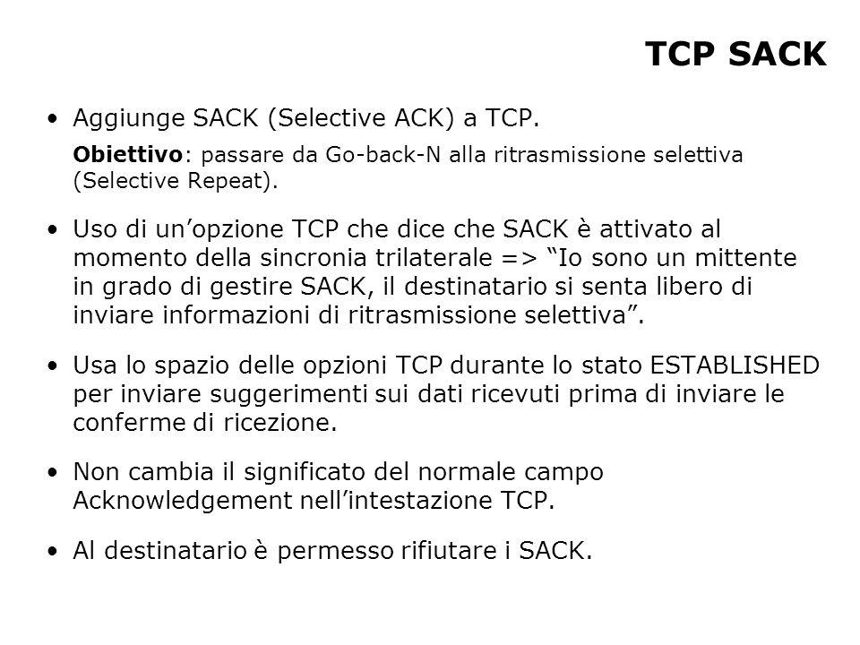 Aggiunge SACK (Selective ACK) a TCP.