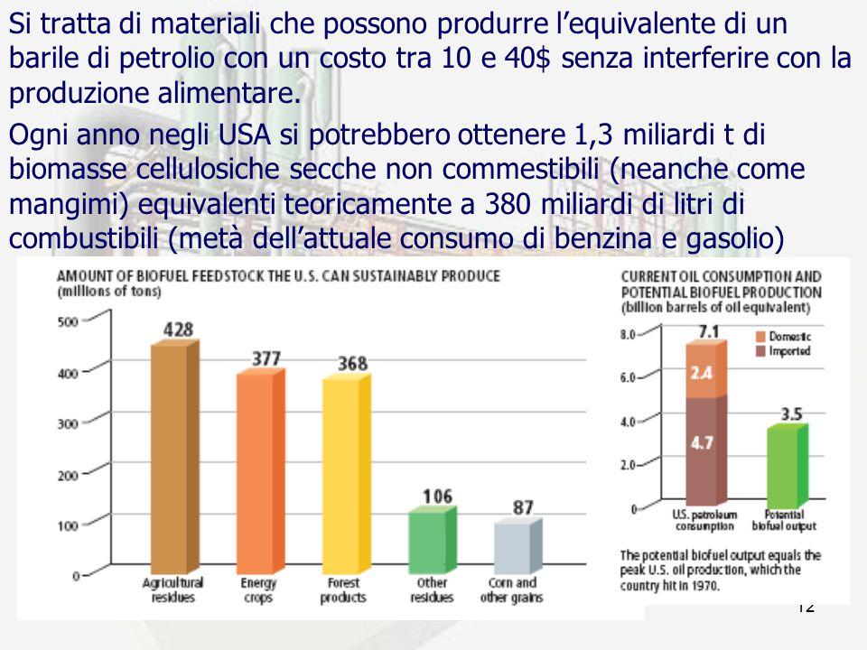prof. F.Tottola IPSIA E. FERMI12 Si tratta di materiali che possono produrre l'equivalente di un barile di petrolio con un costo tra 10 e 40$ senza in